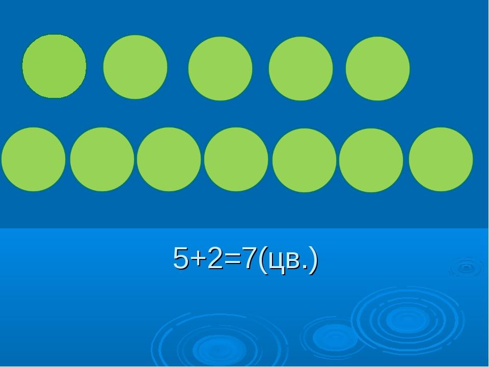 5+2=7(цв.)