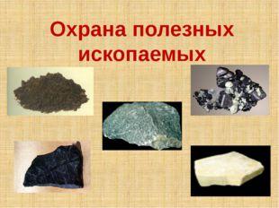 Охрана полезных ископаемых