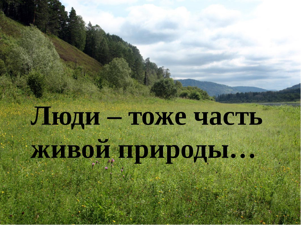 Люди – тоже часть живой природы…