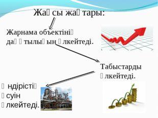 Жақсы жақтары: Жарнама объектiнiң даңқтылығын үлкейтедi. Табыстарды үлкейтедi