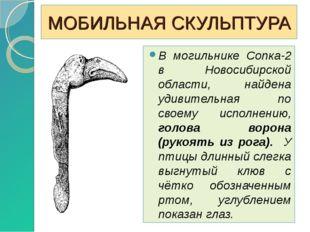 МОБИЛЬНАЯ СКУЛЬПТУРА В могильнике Сопка-2 в Новосибирской области, найдена уд