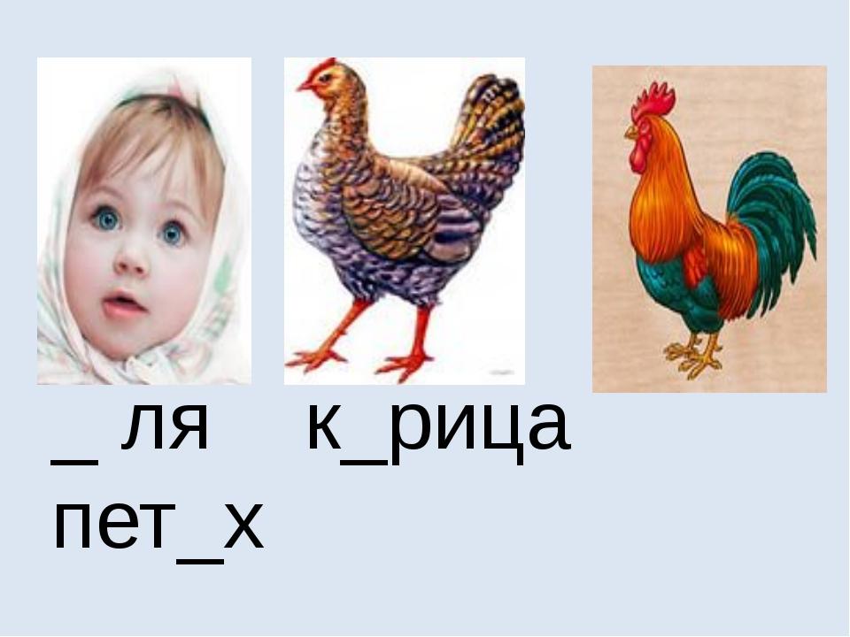 _ ля к_рица пет_х