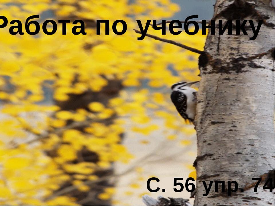 Работа по учебнику С. 56 упр. 74