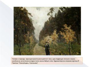 Человек и природа, чарующая красота разноцветного леса, шум опадающих листье