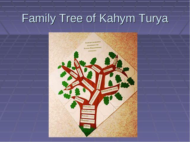 Family Tree of Kahym Turya