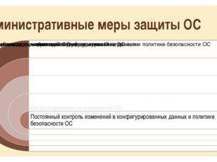 Административные меры защиты ОС