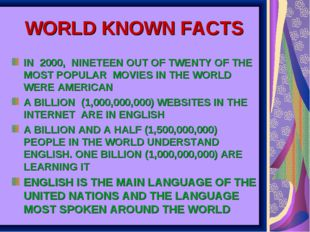 WORLD KNOWN FACTS IN 2000, NINETEEN OUT OF TWENTY OF THE MOST POPULAR MOVIES