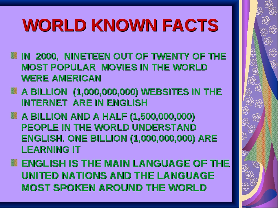 WORLD KNOWN FACTS IN 2000, NINETEEN OUT OF TWENTY OF THE MOST POPULAR MOVIES...