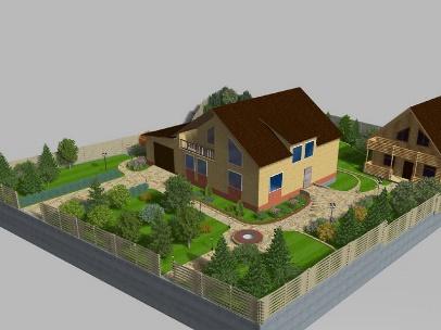 Галерея ландшафтных проектов. Программа Наш Сад 10 Кристалл. Андрей Репин. Екатеринбург (1)