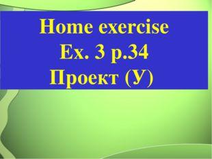 Home exercise Ex. 3 р.34 Проект (У)