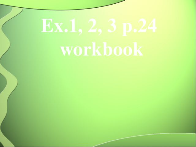 Ex.1, 2, 3 p.24 workbook