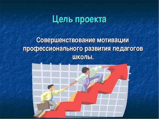 Цель проекта Совершенствование мотивации профессионального развития педагогов...
