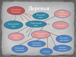 Деревья Российская Федерация Приволжский округ Центральный округ Уральский ок