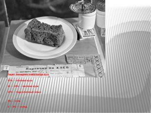 Рецепт блокадного хлеба ноября 41-го 57% — обойная мука 20 — 30% — овсяная м