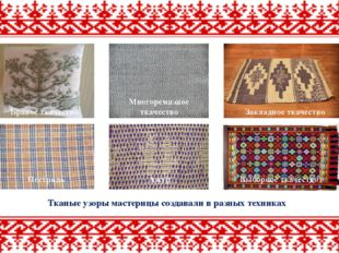 Браное ткачество Многоремизное ткачество Закладное ткачество Тканые узоры мас