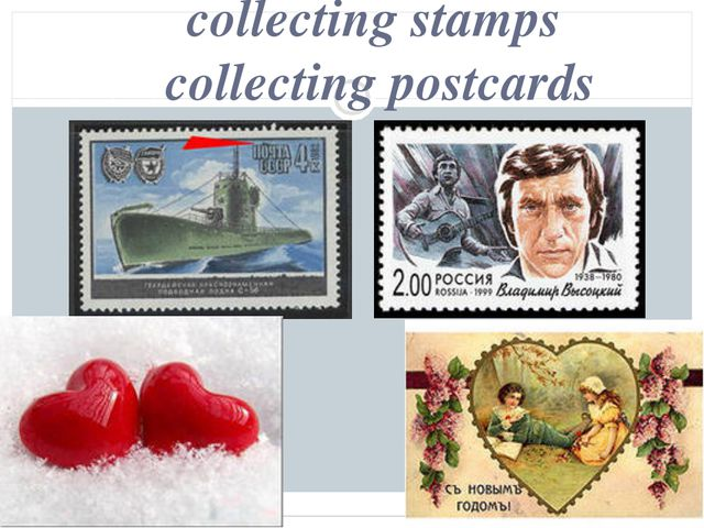 collecting stamps collecting postcards