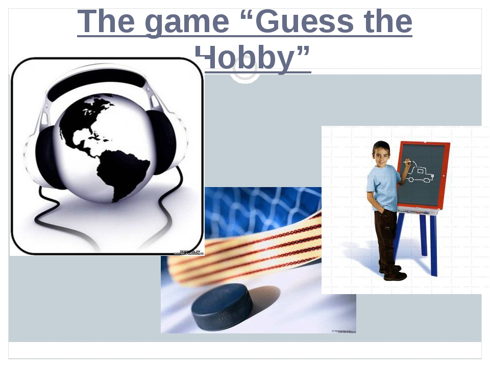 "The game ""Guess the Hobby"""