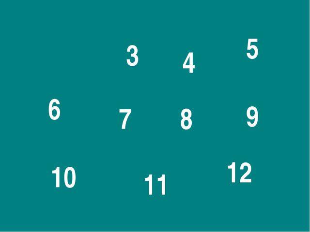 3 4 5 6 7 8 9 10 11 12