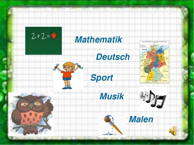 Mathematik Sport Deutsch Musik Malen