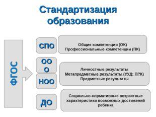Стандартизация образования Социально-нормативные возрастные характеристики во