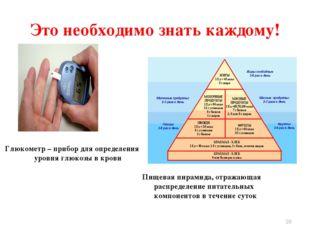 Пищевая пирамида, отражающая распределение питательных компонентов в течение