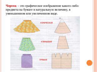 Чертеж – это графическое изображение какого-либо предмета на бумаге в натурал