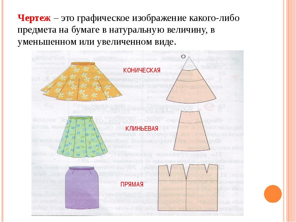 Чертеж – это графическое изображение какого-либо предмета на бумаге в натурал...