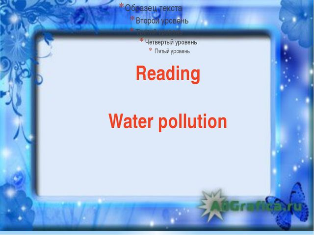 Reading Water pollution