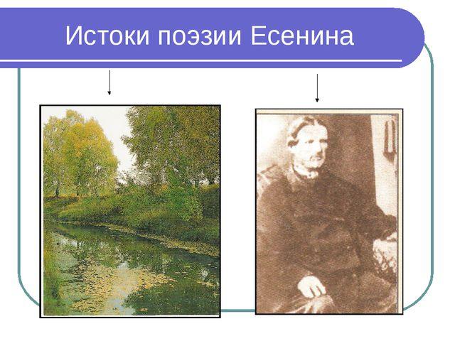 Истоки поэзии Есенина