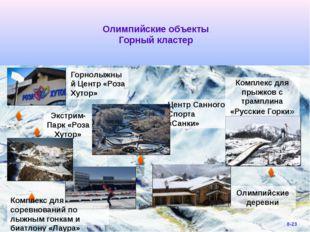Олимпийские объекты Горный кластер Горнолыжный Центр «Роза Хутор» Экстрим-Па