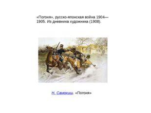«Погоня», русско-японская война 1904—1905. Из дневника художника (1908). Н. С