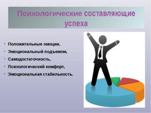 Психологические составляющие успеха Положительные эмоции, Эмоциональный подъе