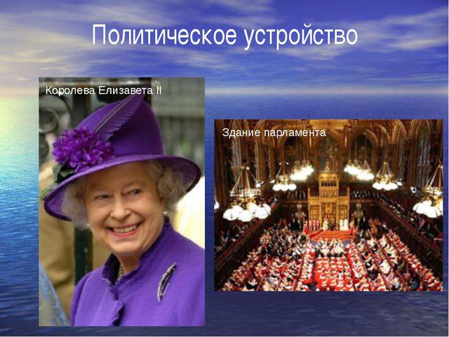 Политическое устройство Королева Елизавета II Здание парламента