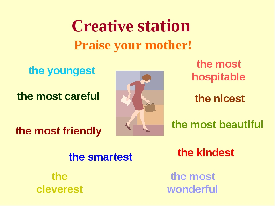 Creative station Praise your mother! the most careful the smartest the clever...