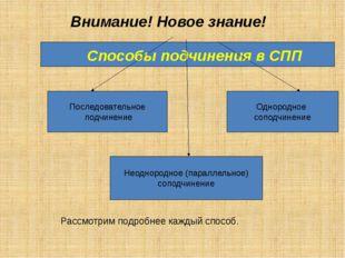Способы подчинения в СПП Последовательное подчинение Неоднородное (параллель