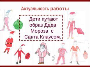 Актуальность работы Дети путают образ Деда Мороза с Санта Клаусом.