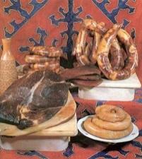 Kazakhstan food - Kazi, Karta, Shuzhuk