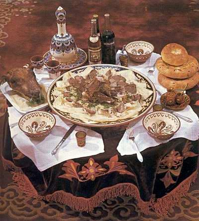 Kazakhstan food - Besbarmak