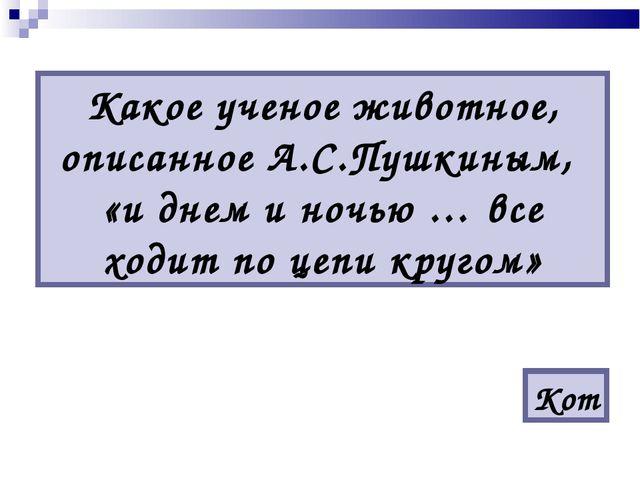 Какое ученое животное, описанное А.С.Пушкиным, «и днем и ночью … все ходит по...