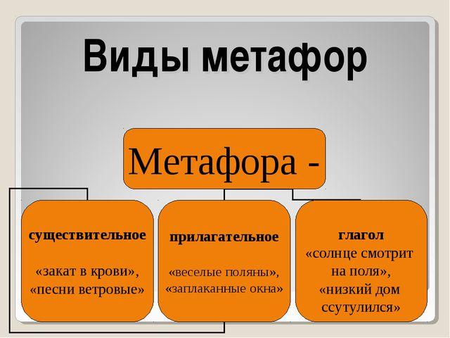 Виды метафор