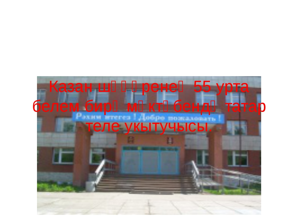 Казан шәһәренең 55 урта белем бирү мәктәбендә татар теле укытучысы. 2010-201...