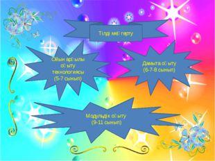Тілді меңгерту Ойын арқылы оқыту технологиясы (5-7 сынып) Модульдік оқыту (9