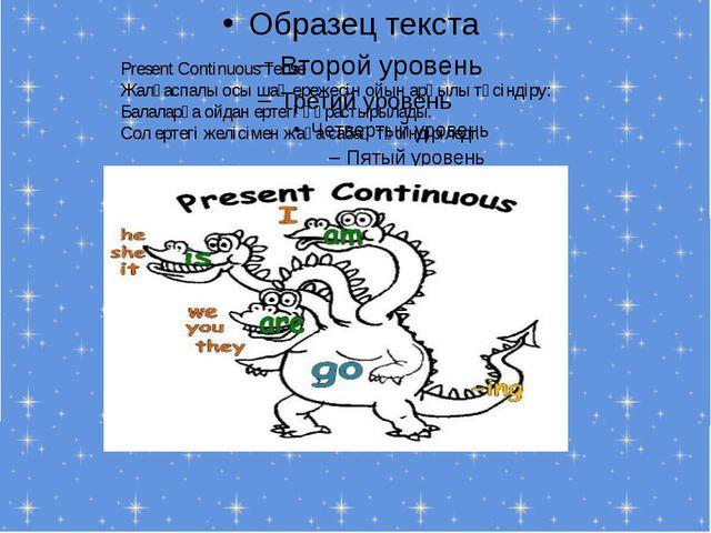 Present Continuous Tense Жалғаспалы осы шақ ережесін ойын арқылы түсіндіру:...