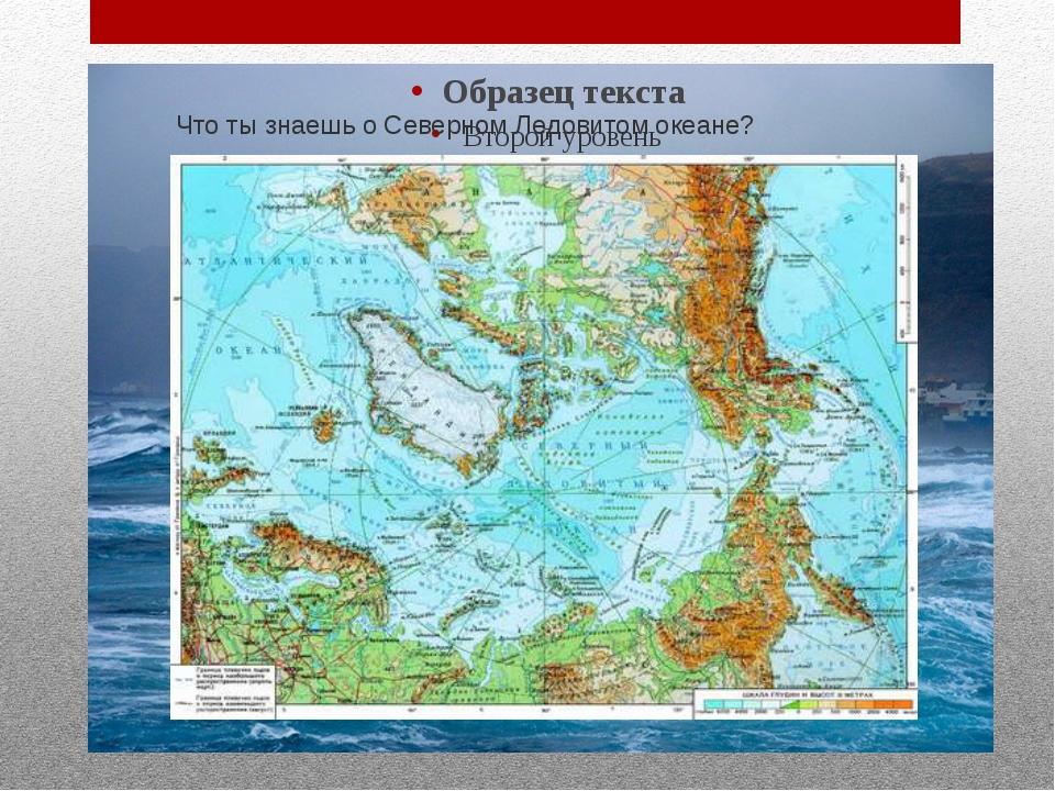 Что ты знаешь о Северном Ледовитом океане?