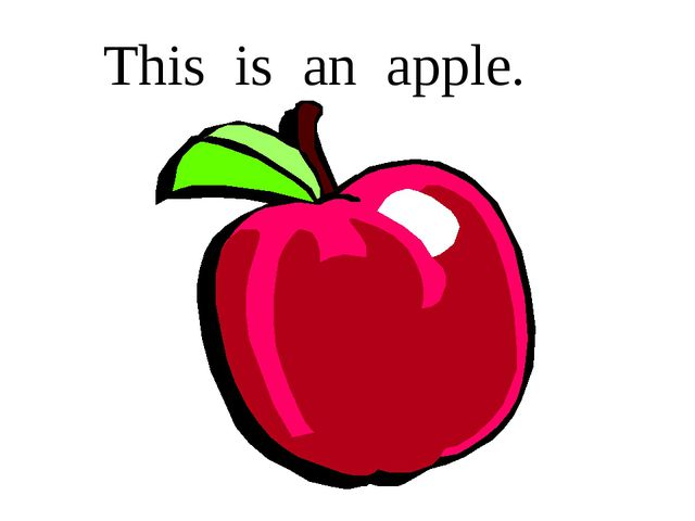 This is an apple.