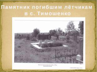 Памятник погибшим лётчикам в с. Тимошенко