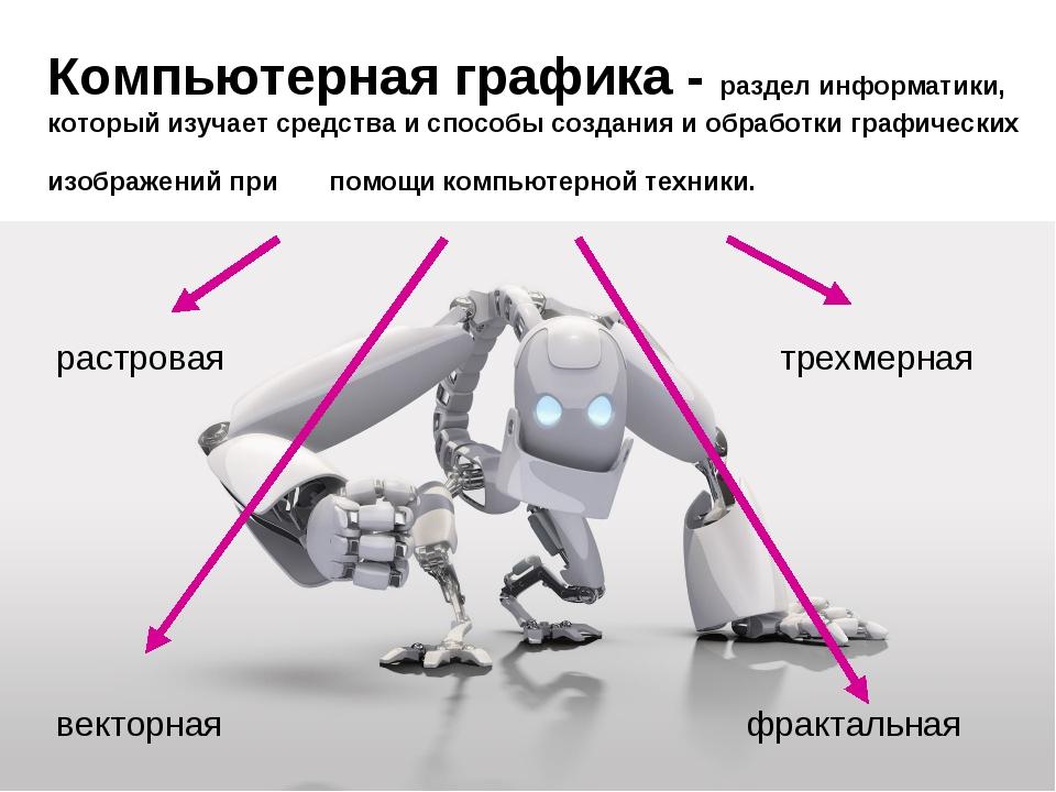 Компьютерная графика - раздел информатики, который изучает средства и способы...