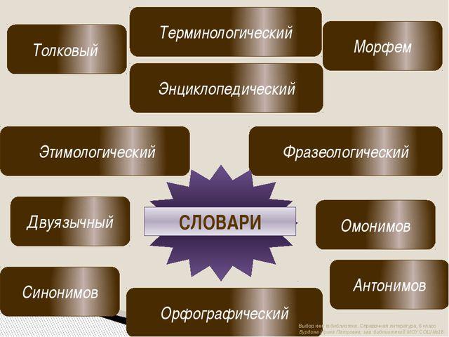 Толковый Орфографический Фразеологический Энциклопедический Омонимов Синоним...