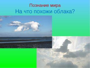 Познание мира На что похожи облака?