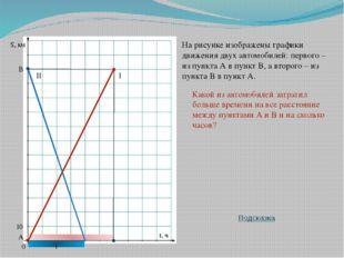 10 S, км t, ч На рисунке изображены графики движения двух автомобилей: первог
